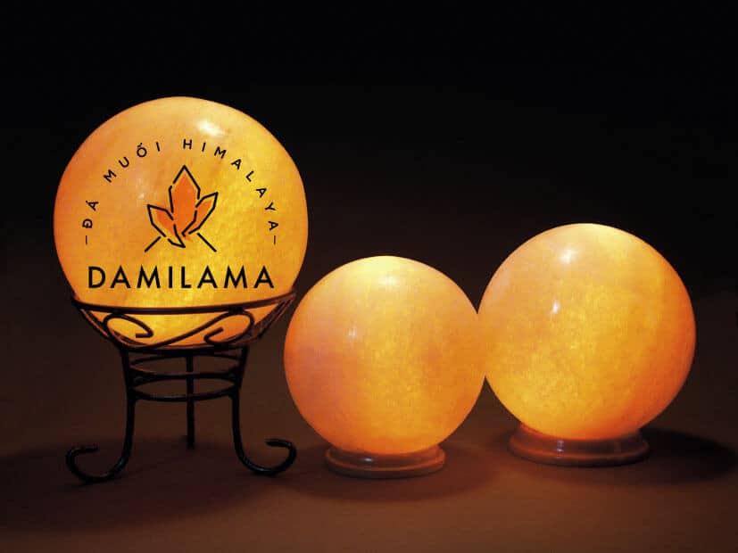Hình ảnh Đèn Đá Muối Hình Tròn chính hãng tốt giá rẻ nhất tại DamiLama