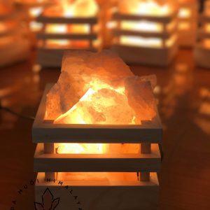 Hình ảnh Giỏ Đèn Đá Muối Himalaya chính hãng tốt giá rẻ nhất tại DamiLama