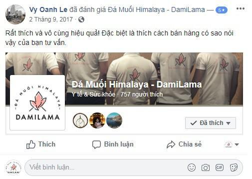 Hình ảnh Review Của Khách Hàng Về Các Sản Phẩm Từ Đá Muối Himalaya chính hãng tốt giá rẻ nhất tại DamiLama